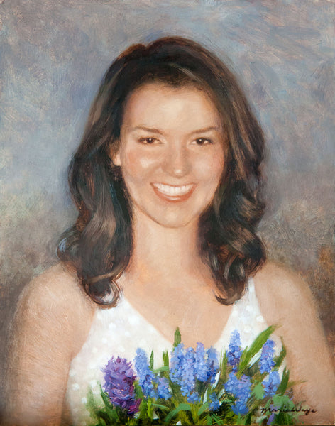 "Custom Portrait Oil Painting 11x14"" One person or pet (28x35 cm)"