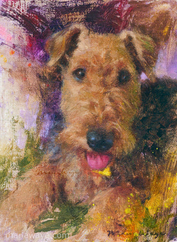 "Custom Portrait Oil Painting 8x10"" One pet or person (20.32x25.4 cm)"