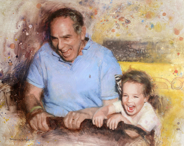 "Custom Portrait Oil Painting 16x20"" Two people or pets (40.64x50.8 cm)"