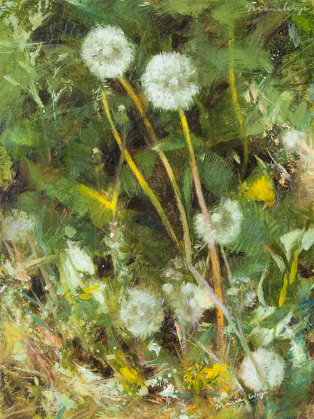 """The Dandelion that Dares to Dream"" Original Oil Painting"
