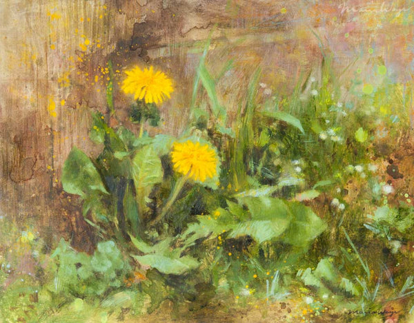 """Daring Dandelion"" Original Oil Painting"