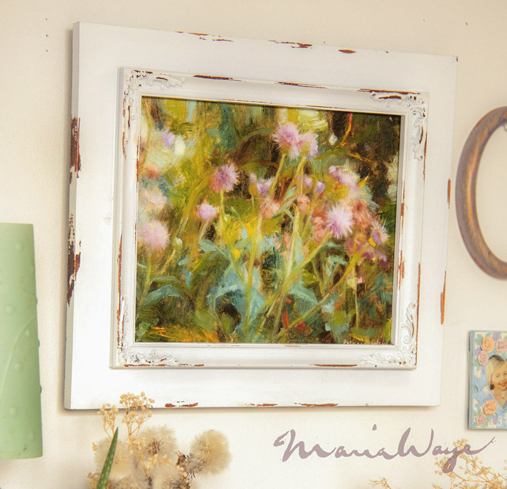 Fine Art Floral Oil Paintings By Maria Waye Rustic Country Charm For Simple Modern
