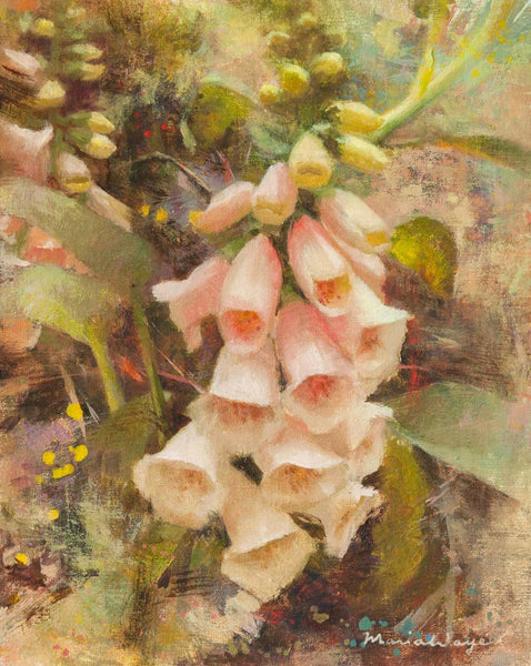 """Flourishing Foxgloves"" Original Oil Painting"