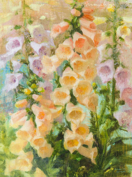 """Foxglove Fancy"" Original Oil Painting"