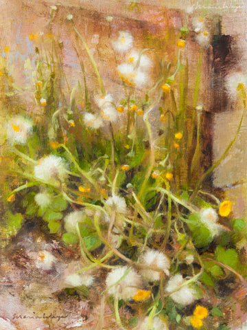 """Charming Coltsfoot"" Original Oil Painting"