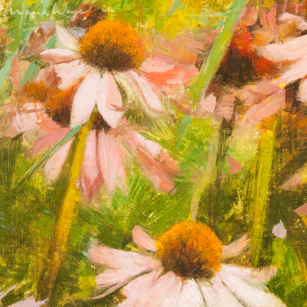 Coneflowers Oil Painting To Bring You Joy And Cheer From