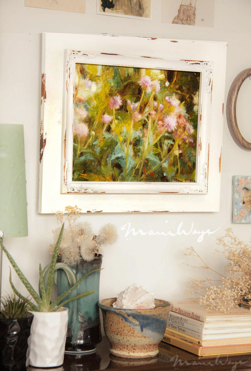 Pretty Charming Rustic Look You Can Shop For Fine Art Floral Oil Paintings