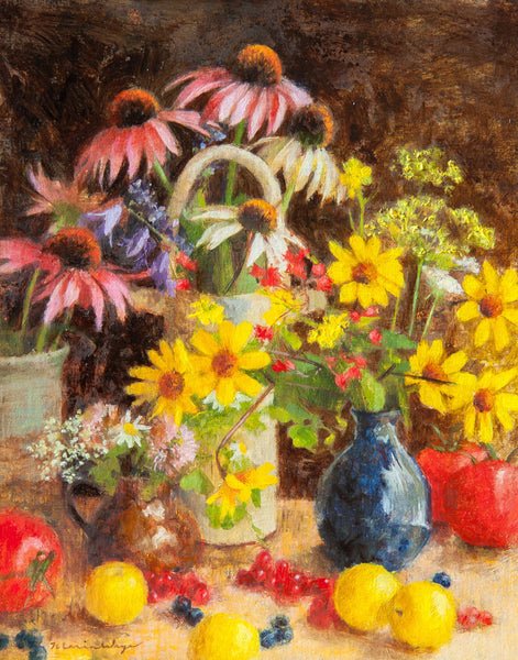 """Coneflower Cheer"" Original Oil Painting"