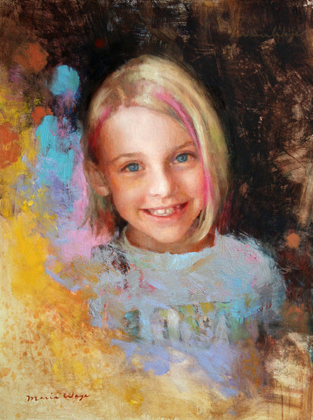 "Custom Portrait Oil Painting 12x16"" One Person or pet (30.48x40.64 cm)"