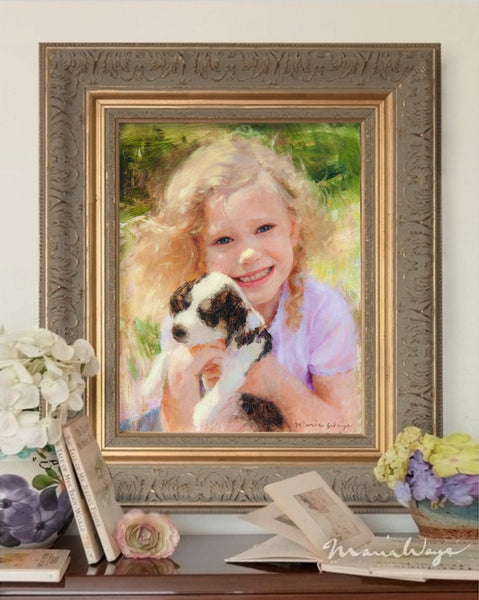 portrait painting of my daughter by artist Maria Waye