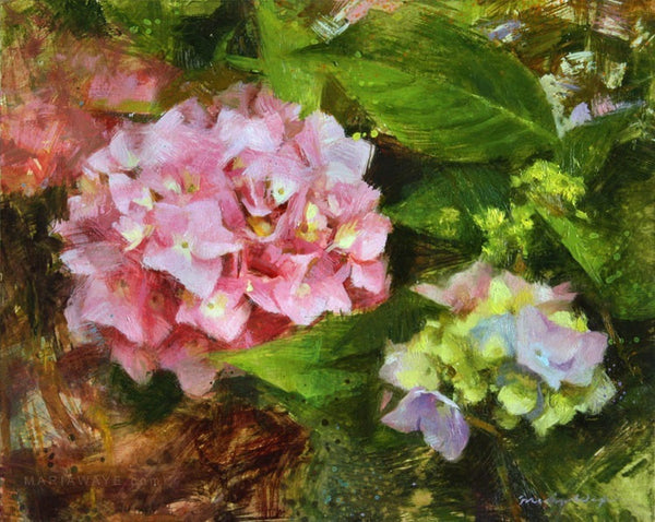 """Hydrangea Happiness"" Original Oil Painting"