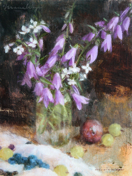 """Bellflower Sonata"" Original Oil Painting"