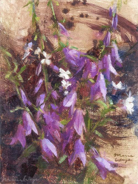 """Bellflower Study"" Original Oil Painting Sketch (Quick Study)"