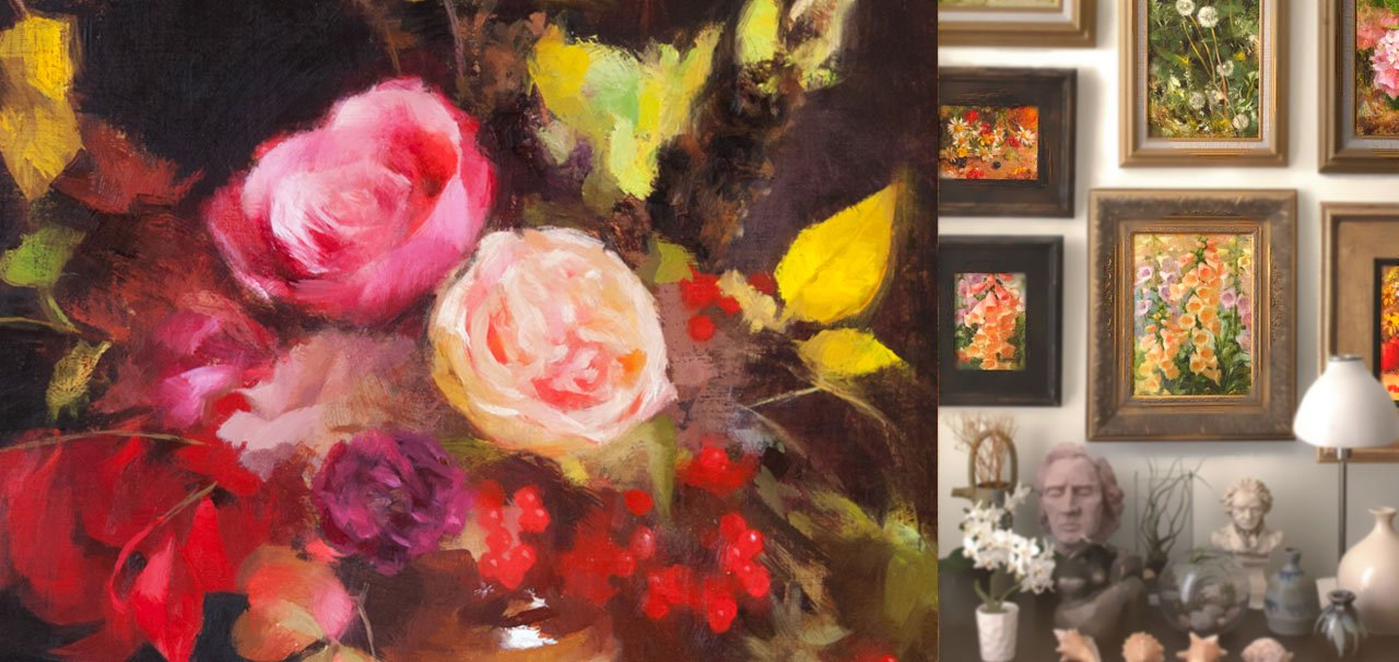 Maria Waye fine art paintings oil florals