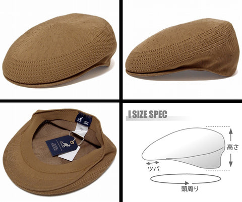 Kangol TROPIC 504 VENTAIR Caps Iconic Kangol Classic TAN