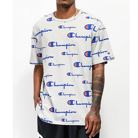 Champion Life Mens Heritage Tee, All Over Logo