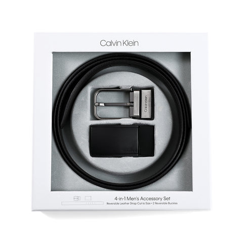 Calvin Klein Calvin Klein belt men genuine leather belt set reversible buckle CK business black brown 74140