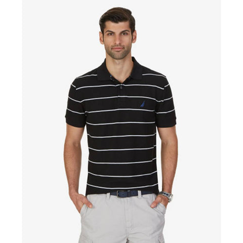 Nautica Striped Prformance Deck Polo