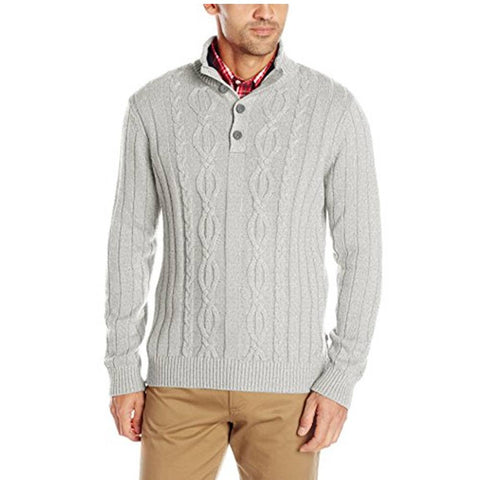 Nautica Mock Neck Cable Sweater