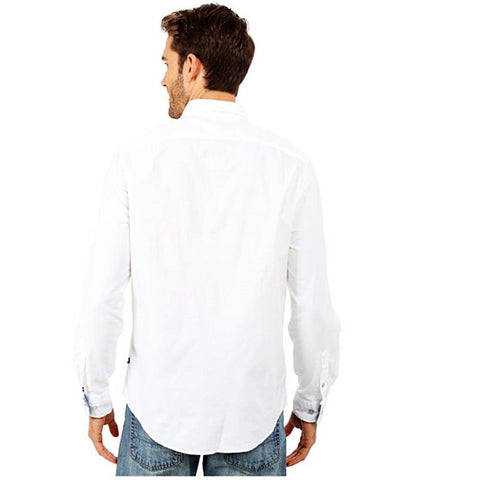 Nautica Solid Oxford Long Sleeve Button Up