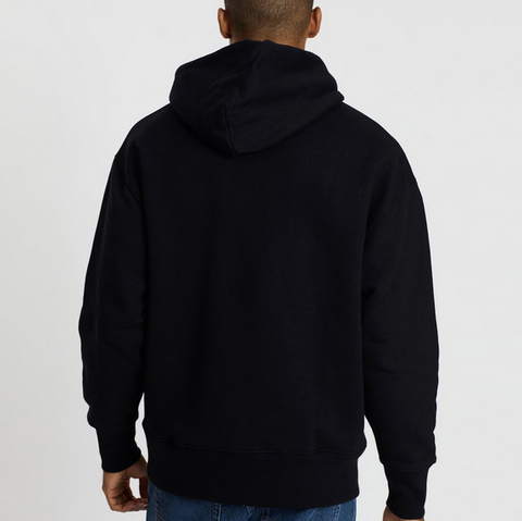 Tommy Hilfiger Men's Tommy Jeans SMITH PO BADGE HOODIE. Black.
