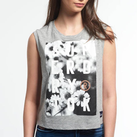 Superdry Photographic Daisy Vest Tee