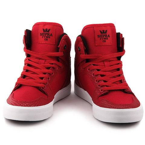 Supra Red Vaider Hightop Shoes