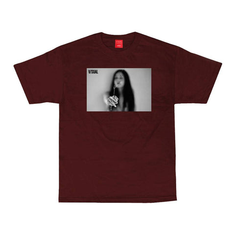 VISUAL Joint Maroon Tee