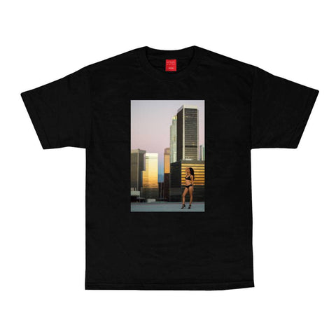 VISUAL Rooftop Black Tee