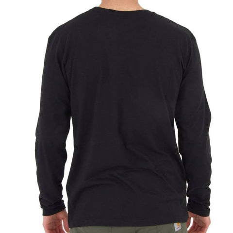 VISUAL Taped Long Sleeve Black Tee