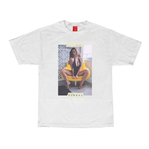 VISUAL Taped White Tee