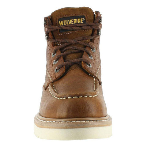 "Wolverine Moc Toe 6"" Soft Toe Work Boot"