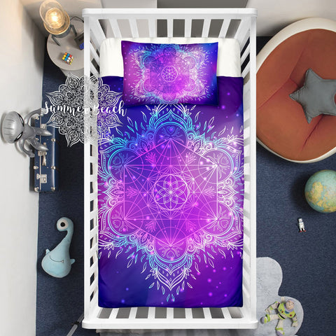 Boho Galaxy Star Bed Set Cot Doona Cover Bed Set