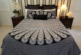 Black & White Fan Bed Set - B12