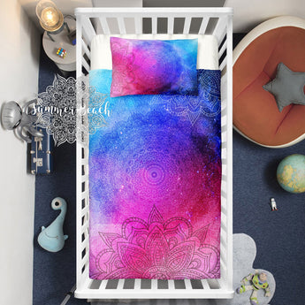 Boho Galaxy Sun Rise Bed Set Cot Doona Cover Bed Set