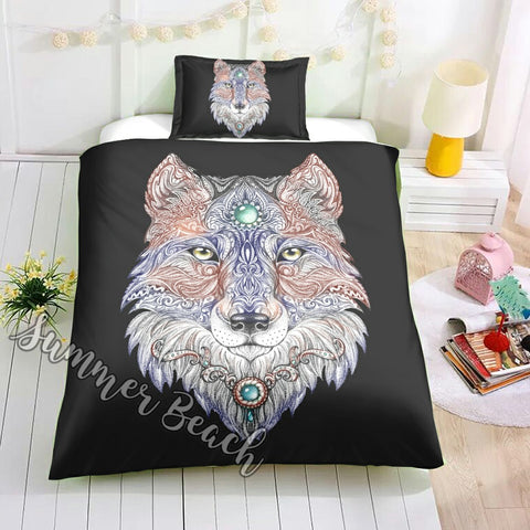 Mandala Wolf Bed  Set - New