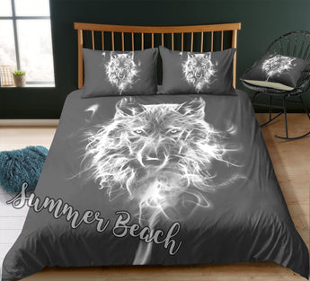 Midnight Wolf Bed  Set - New