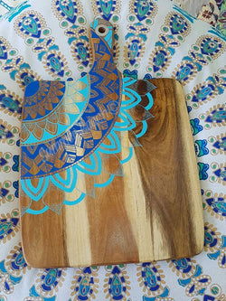 Hand Painted Wooden Mandala Serving Boards - Board34