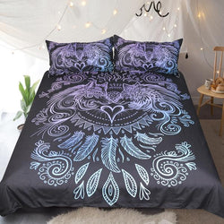 When I Look Into Your Eyes (Black) by Sunima Art Bed Set - Pre-Order