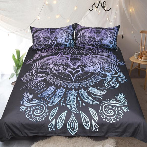 When I Look Into Your Eyes (Black) Bed Set - Clearance
