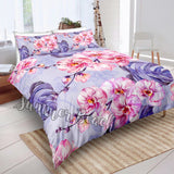 Tropical Pink Orchard Bed Set - New