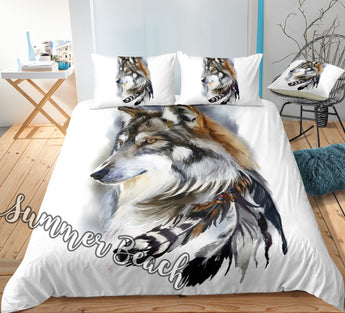 Feather Wolf Bed  Set - New