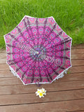 Little Mandala Umbrella - Pink & Purple Peacock - UMB2