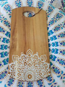 Hand Painted Wooden Mandala Serving Boards - Board22