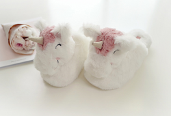 Super Soft Slip On Unicorn Slippers - Adult Size