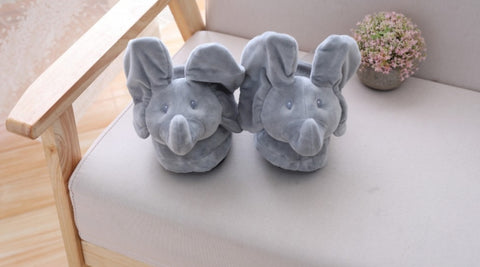 Slip On Suprise Elephant Slippers - Adult Size