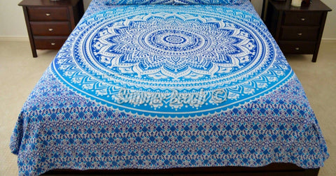 Square Mandala - Blue Ombre - SQM18