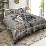 Tribal Wolf Bed  Set