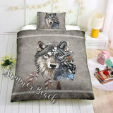 Tribal Wolf Bed  Set - New