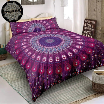 Pink Peacock Bed Set